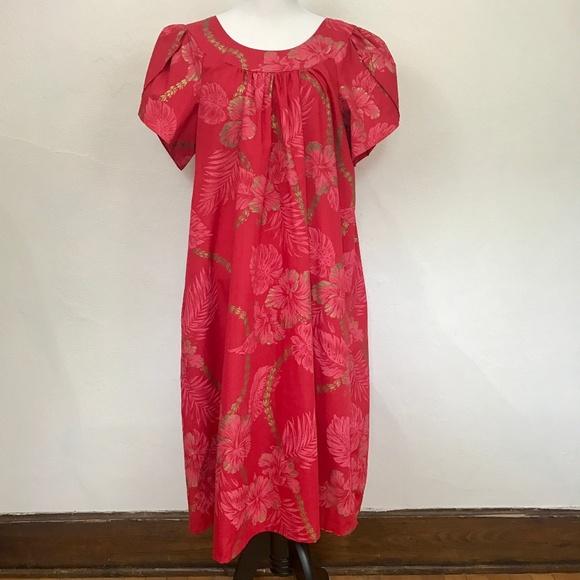 Hilo Hattie Muu Muu Hawaiian Dress - Plus Size